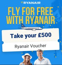 win 500 pound ryan air