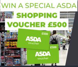 win 500 pound shopping spree at asda