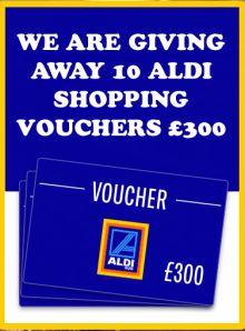 win a 300 pound aldi voucher