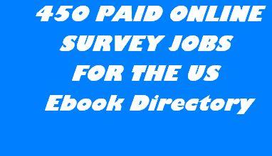 450 PAID ONLINE SURVEY JOBS EBOOK DIRECTORY