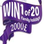 WIN 1 OF 20 FAMILY HOLIDAYS WORTH £2000! (UK)