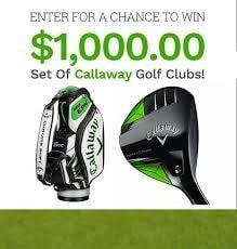 win $1000 Callaway golf clubs free