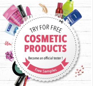 Get free cosmetic products