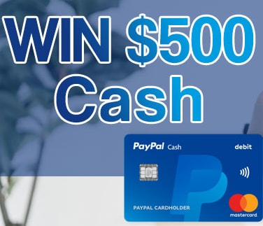win $500 free paypal cash